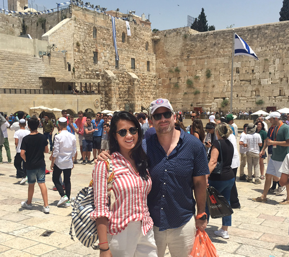 UJA Federation of New York >> Revi and Dave visiting Jerusalem during their Honeymoon Israel trip.